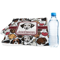 Dog Faces Sports Towel (Personalized)