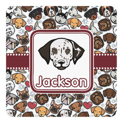 Dog Faces Square Decal (Personalized)