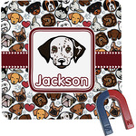 Dog Faces Square Fridge Magnet (Personalized)