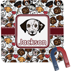 Dog Faces Square Fridge Magnet (Personalized)