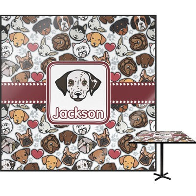 Dog Faces Square Table Top (Personalized)