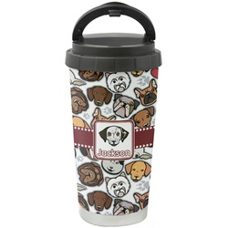 Dog Faces Stainless Steel Coffee Tumbler (Personalized)