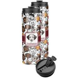 Dog Faces Stainless Steel Skinny Tumbler (Personalized)