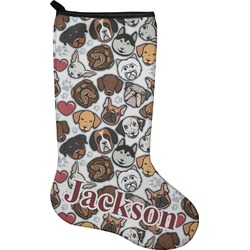 Dog Faces Christmas Stocking - Neoprene (Personalized)