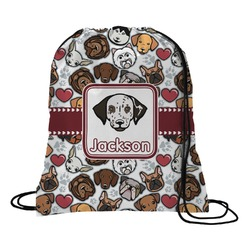 Dog Faces Drawstring Backpack (Personalized)