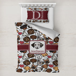 Dog Faces Toddler Bedding w/ Name or Text