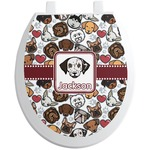 Dog Faces Toilet Seat Decal (Personalized)