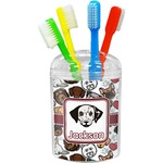 Dog Faces Toothbrush Holder (Personalized)