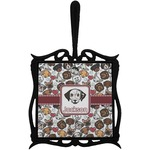Dog Faces Trivet with Handle (Personalized)