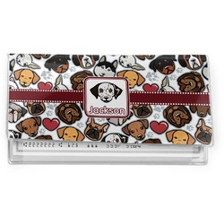 Dog Faces Vinyl Checkbook Cover (Personalized)