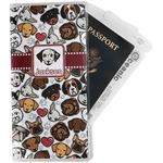 Dog Faces Travel Document Holder