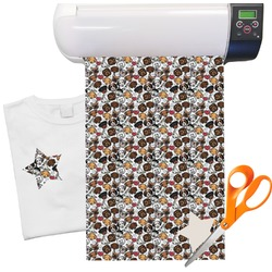 "Dog Faces Heat Transfer Vinyl Sheet (12""x18"")"