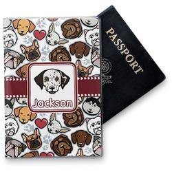 Dog Faces Vinyl Passport Holder (Personalized)