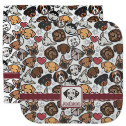Dog Faces Facecloth / Wash Cloth (Personalized)