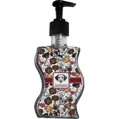Dog Faces Wave Bottle Soap / Lotion Dispenser (Personalized)