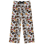 Dog Faces Womens Pajama Pants (Personalized)