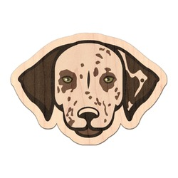 Dog Faces Genuine Maple or Cherry Wood Sticker (Personalized)