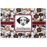 Dog Faces Woven Mat (Personalized)
