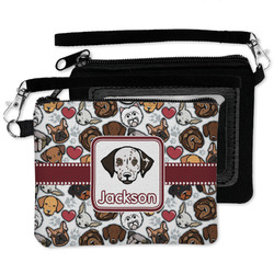 Dog Faces Wristlet ID Case w/ Name or Text