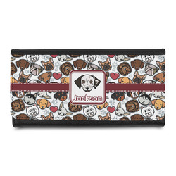 Dog Faces Leatherette Ladies Wallet (Personalized)