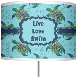 """Sea Turtles 13"""" Drum Lamp Shade Polyester (Personalized)"""