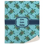 Sea Turtles Sherpa Throw Blanket (Personalized)