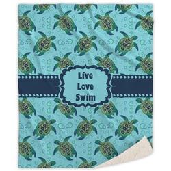 Sea Turtles Sherpa Throw Blanket (Personalized)