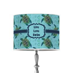 "Sea Turtles 8"" Drum Lamp Shade - Poly-film"