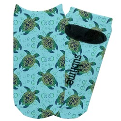 Sea Turtles Adult Ankle Socks (Personalized)