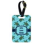 Sea Turtles Metal Luggage Tag