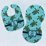 Sea Turtles Baby Bib & Burp Set