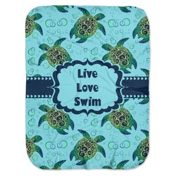 Sea Turtles Baby Swaddling Blanket (Personalized)