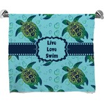 Sea Turtles Full Print Bath Towel (Personalized)