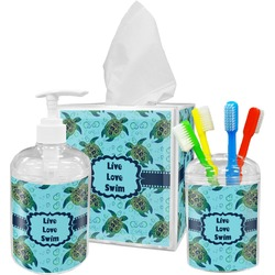 Sea Turtles Acrylic Bathroom Accessories Set