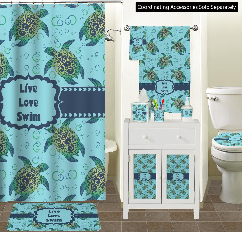 Sea Turtles Ceramic Bathroom Accessories Scene