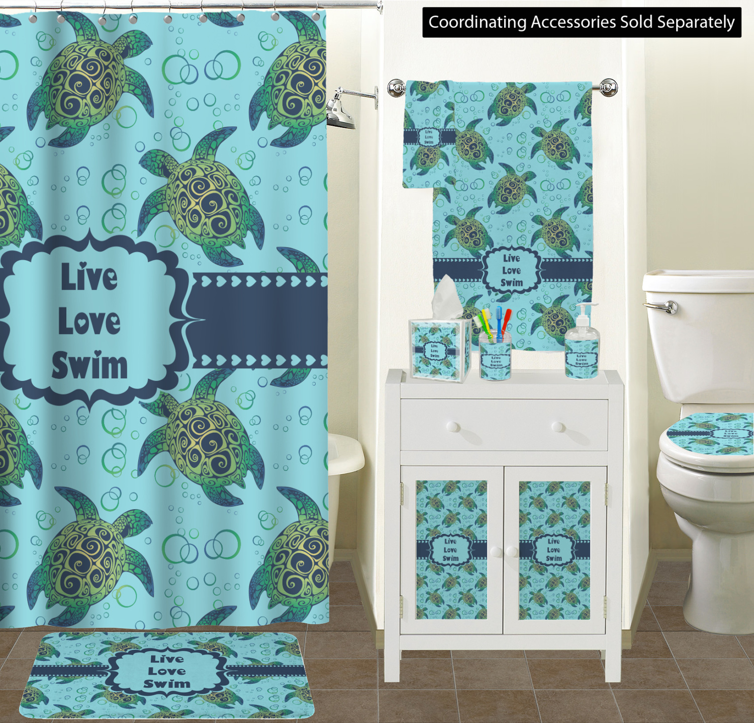 Sea Turtles Bathroom Accessories Set