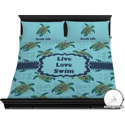 Sea Turtles Duvet Cover Set - King (Personalized)