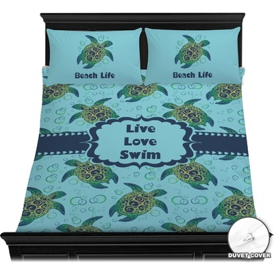 Sea Turtles Duvet Cover Set - Full / Queen (Personalized)
