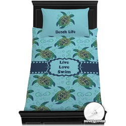 Sea Turtles Duvet Cover Set - Twin (Personalized)