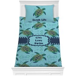 Sea Turtles Comforter Set - Twin XL (Personalized)