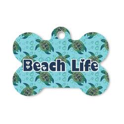 Sea Turtles Bone Shaped Dog Tag (Personalized)