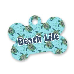 Sea Turtles Bone Shaped Dog Tag (Personalized)