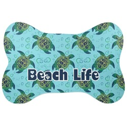 Sea Turtles Bone Shaped Dog Food Mat (Personalized)