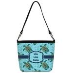 Sea Turtles Bucket Bag w/ Genuine Leather Trim (Personalized)