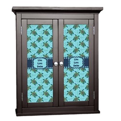 Sea Turtles Cabinet Decal - Large (Personalized)