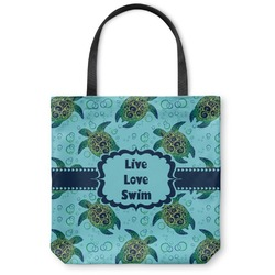 """Sea Turtles Canvas Tote Bag - Large - 18""""x18"""" (Personalized)"""