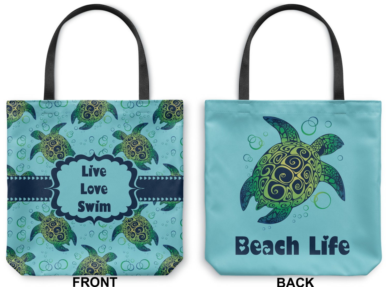 Sea Turtles Canvas Tote Bag Small 13 Quot X13
