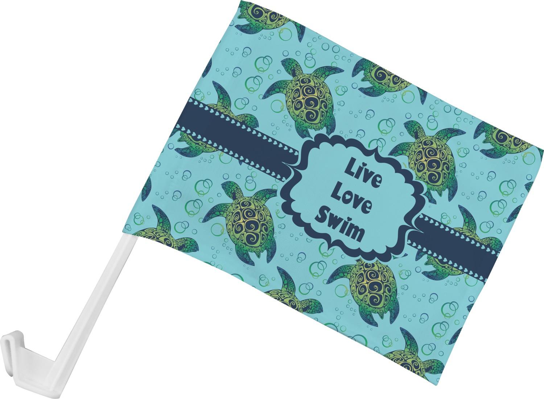 Design car flags - Sea Turtles Car Flag Personalized