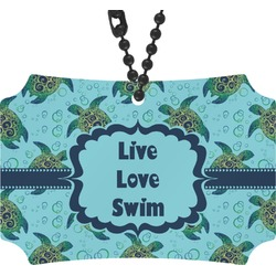 Sea Turtles Rear View Mirror Ornament (Personalized)