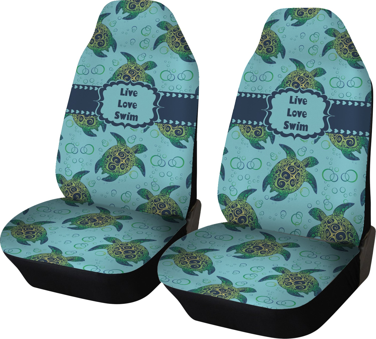 Sea Turtles Car Seat Covers Set Of Two Personalized